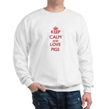 Keep calm and love Pigs Sweatshirt