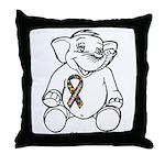 Autism Elephant Throw Pillow