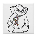 Autism Elephant Tile Coaster