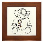 Autism Elephant Framed Tile