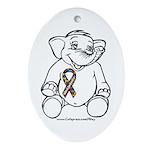 Autism Elephant Oval Ornament