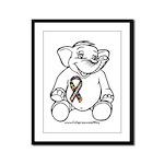 Autism Elephant Framed Panel Print