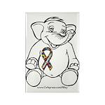 Autism Elephant Rectangle Magnet