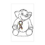 Autism Elephant Rectangle Sticker