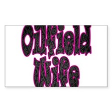 Pink Oilfield Wife Damask Decal