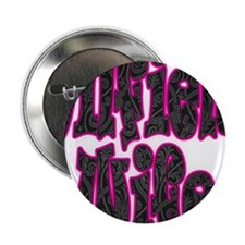 "Pink Oilfield Wife Damask 2.25"" Button (100 pack)"
