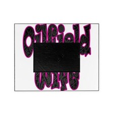 Pink Oilfield Wife Damask Picture Frame