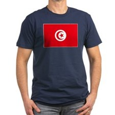 Tunisia Flag Men's Fitted T-Shirt (Dark)