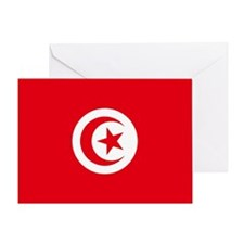 Tunisia Flag Greeting Card