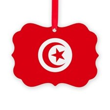 Tunisia Flag Ornament