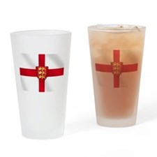 England Three Lions Flag Drinking Glass