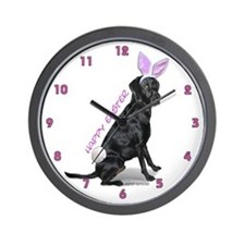 Easter Bunny Labrador Wall Clock