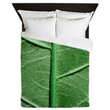 Veined Green Leaf Queen Duvet