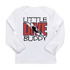 little dive buddy scuba diving Long Sleeve T-Shirt