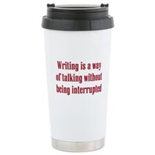 Funny Author Travel Mug