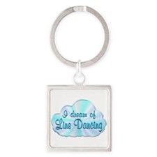 Line Dancing Dreamer Square Keychain