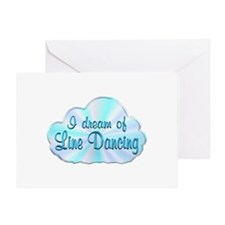 Line Dancing Dreamer Greeting Card