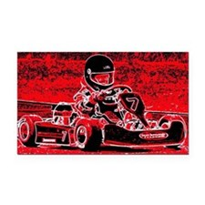 Kid Karts are red RED Hot Rectangle Car Magnet