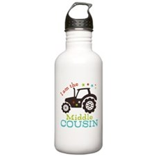 Middle Cousin Tractor Water Bottle