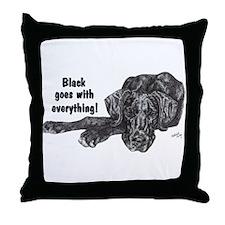 NBlkPup Everything Throw Pillow