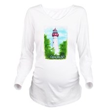 Cape May Lighthouse Long Sleeve Maternity T-Shirt