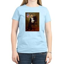 Lincoln & French Bulldog (lap) T-Shirt