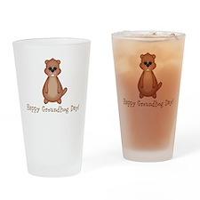 Happy Groundhog Day! Drinking Glass
