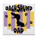 Dachshund Dad Tile Coaster