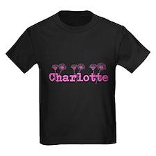 Pink Charlotte Name T-Shirt