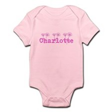Pink Charlotte Name Body Suit