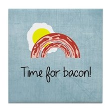 Time for Bacon Tile Coaster