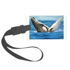 Humpback Whale Breaching Luggage Tag