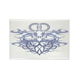 Lesbian Tribal Heart Rectangle Magnet