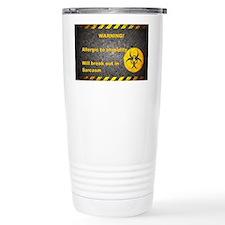 Sarcasm Warning Travel Mug