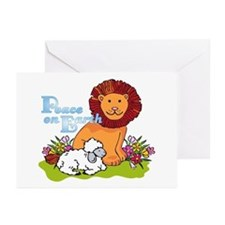 Lion & Lamb Peace On Earth Greeting Cards (10 pk)