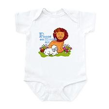 Lion & Lamb Peace On Earth Infant Bodysuit