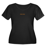 Made in India Women's Plus Size Scoop Neck Dark T-