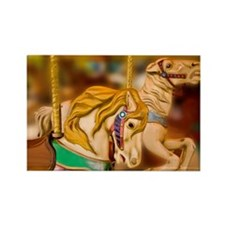 Carnival rides horses Rectangle Magnet