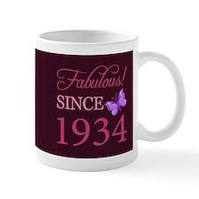 Fabulous Since 1934 Small Mugs