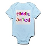 Bright Colors Middle Sister Infant Bodysuit