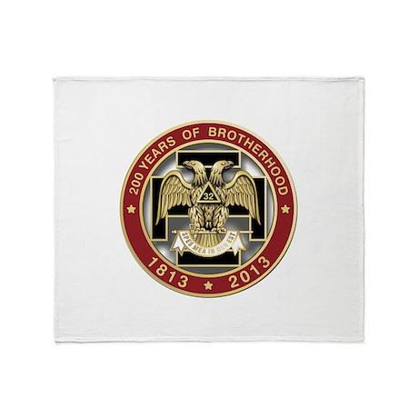 Scottish Rite 200 years Throw Blanket