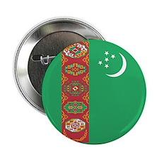 Turkmenistan Flag 2.25&Quot; Button