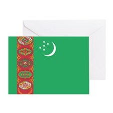 Turkmenistan Flag Greeting Card