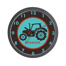 Tractor Custom Name Wall Clock