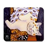 Klimt Kitty Mousepad