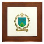 LAROCQUE Family Crest Framed Tile