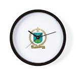 LAROCQUE Family Crest Wall Clock