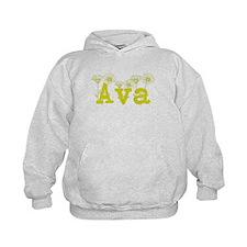 Yellow Ava Name Hoodie