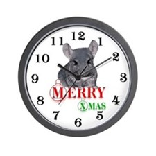 Chin Merry XMas Wall Clock
