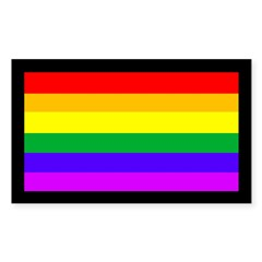 Rainbow on Black (bumper sticker)